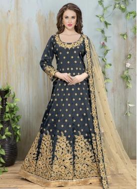 Embroidered Work Long Length Anarkali Salwar Suit For Festival