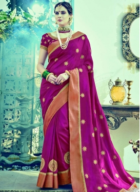Silk Booti Work Contemporary Style Saree