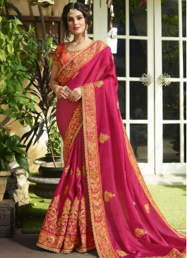 Silk Beads Work Trendy Saree