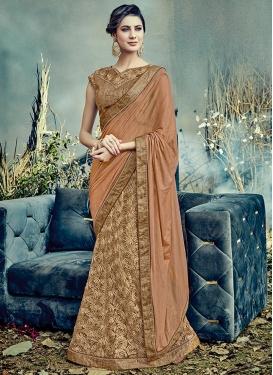 Lycra Designer Lehenga Style Saree