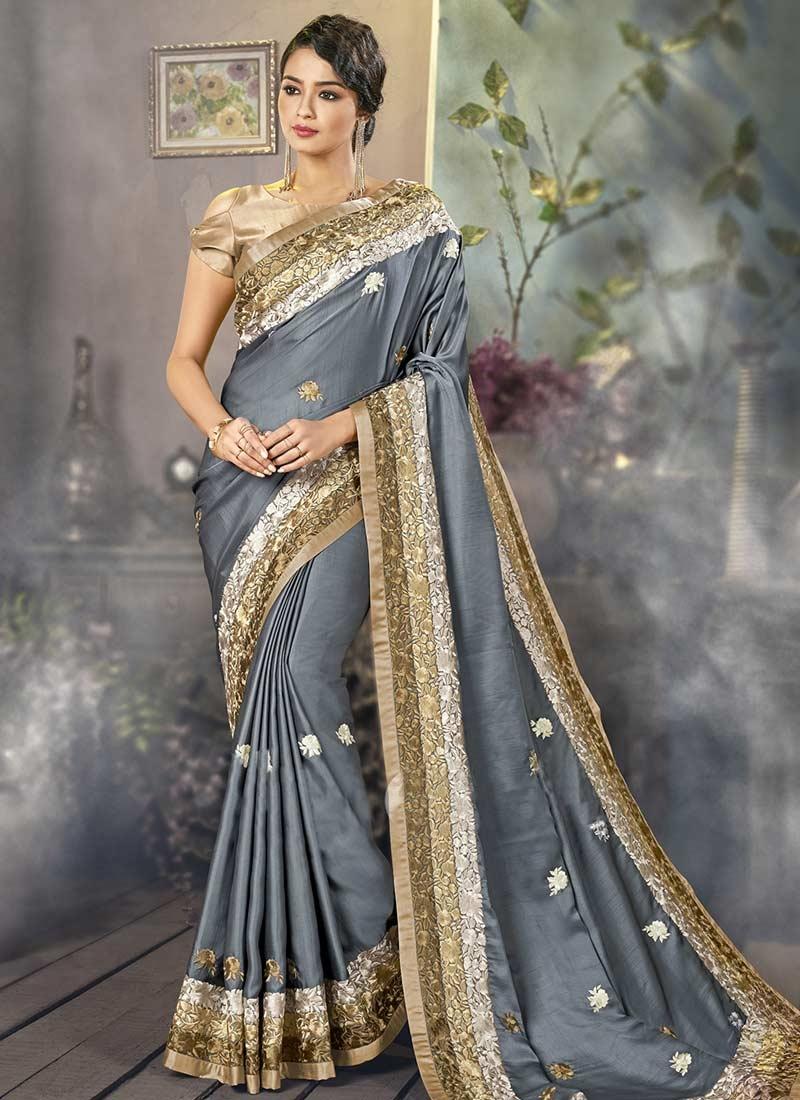 Satin Silk Classic Designer Saree