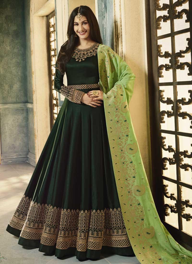 Nargis Fakhri Floor Length Anarkali Salwar Suit For Festival