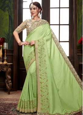 Embroidered Work Designer Contemporary Saree