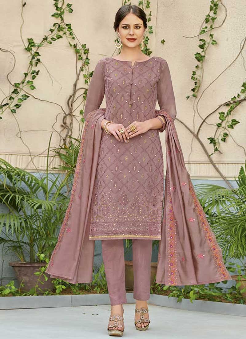 Chanderi Silk Pant Style Classic Salwar Suit
