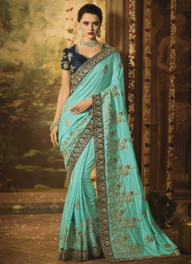 Art Silk Embroidered Work Classic Saree