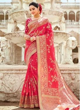 Thread Work Silk Traditional Designer Saree