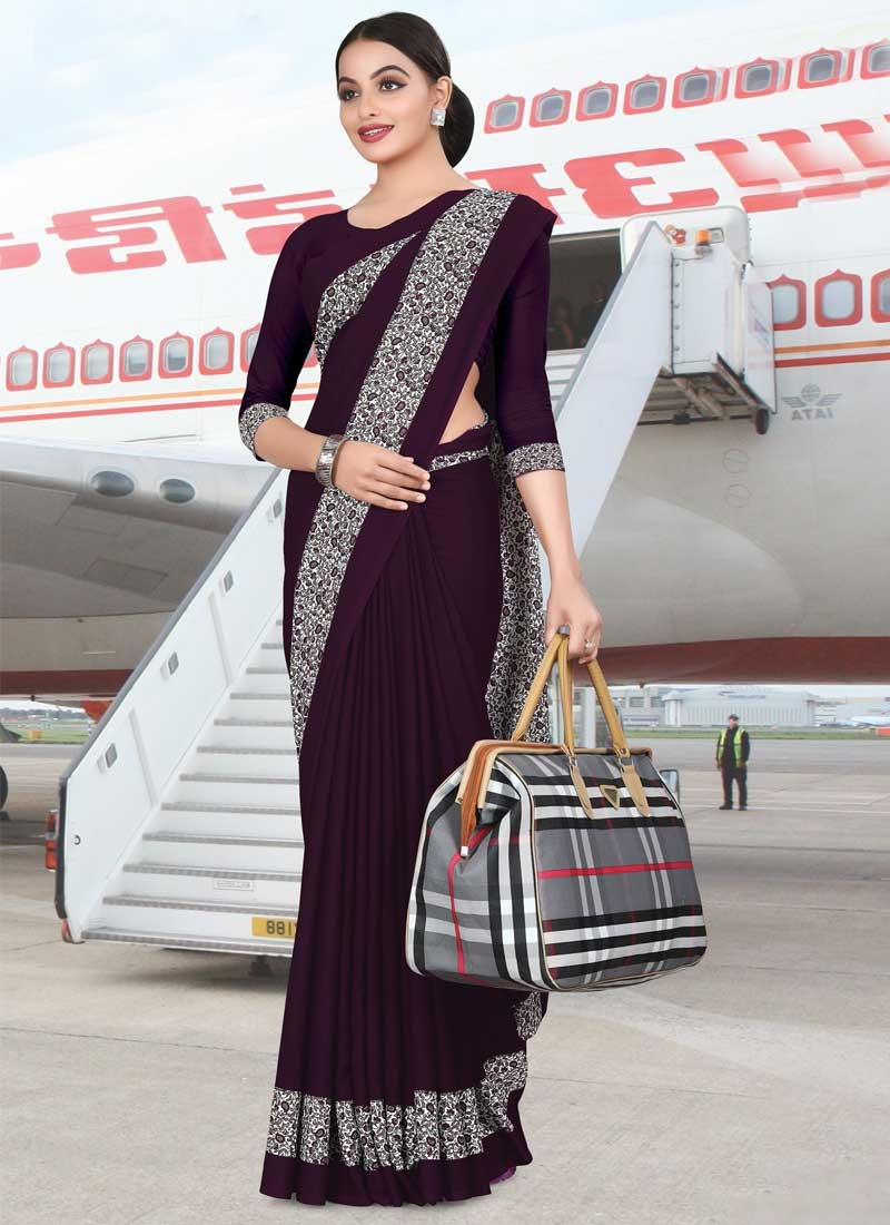 Crepe Silk Print Work Trendy Classic Saree