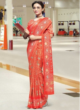 Cotton Satin Contemporary Saree For Casual