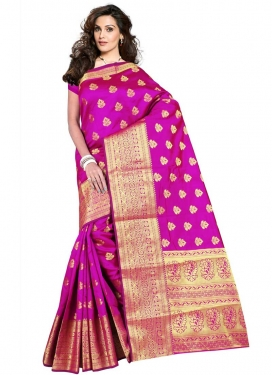Cotton Silk Thread Work Traditional Saree