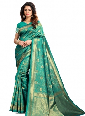 Thread Work Designer Traditional Saree For Casual
