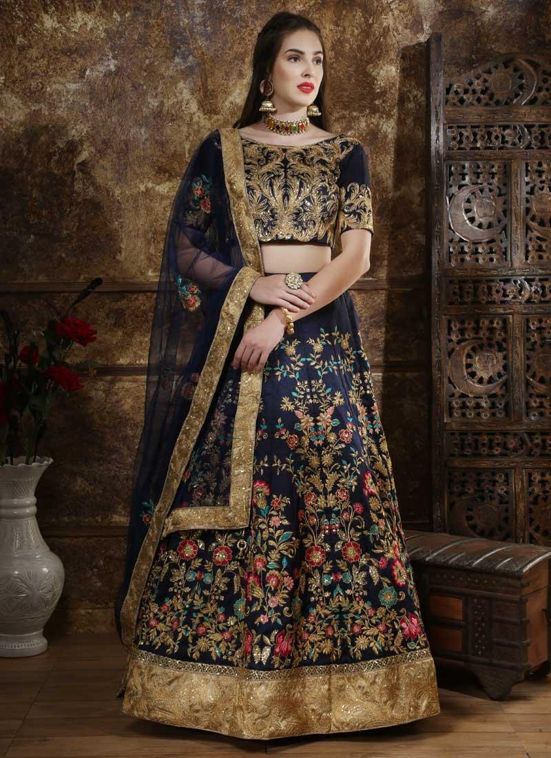 Art Silk Lehenga Choli For Bridal