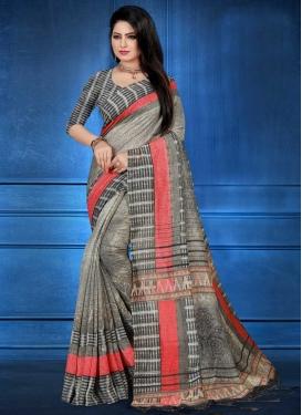 Digital Print Work Traditional Designer Saree
