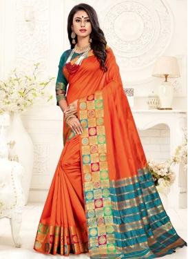 Cotton Silk Thread Work Traditional Designer Saree
