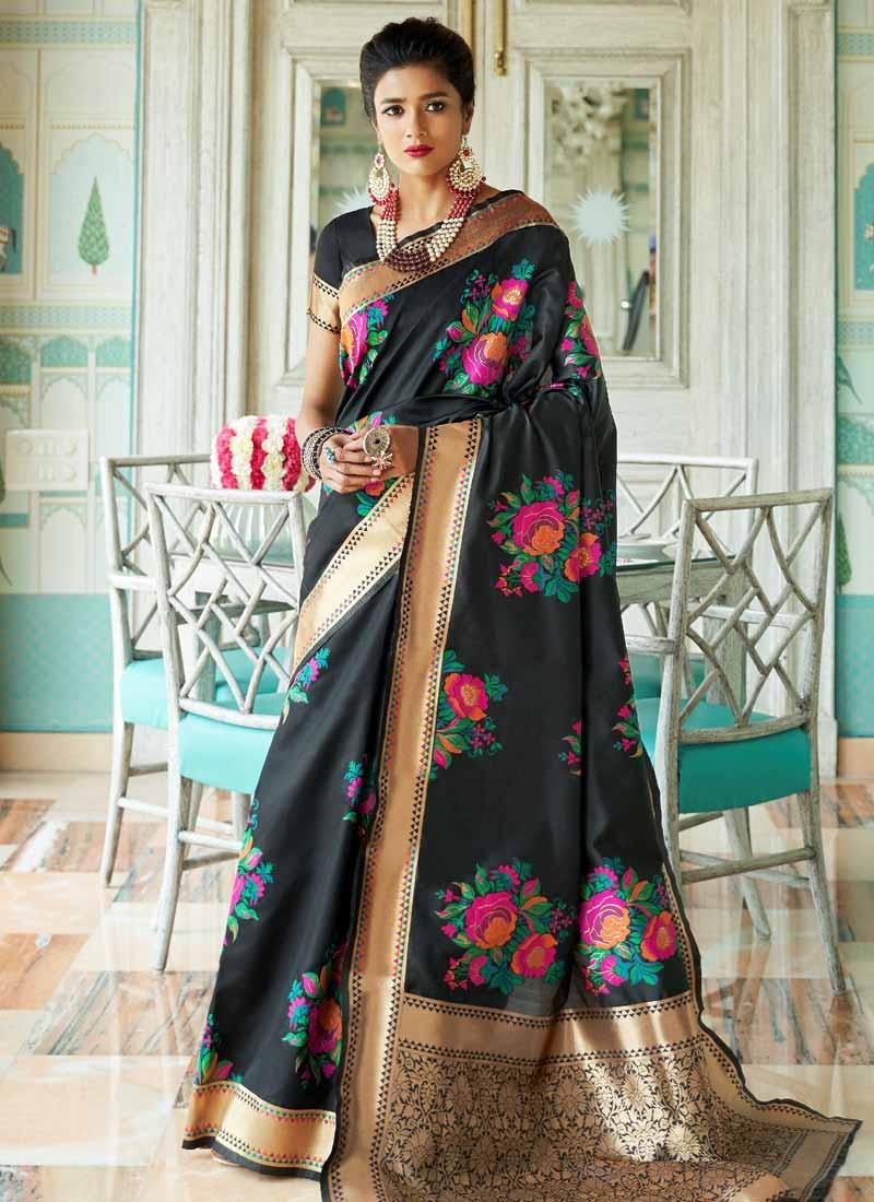 Handloom Silk Thread Work Traditional Saree