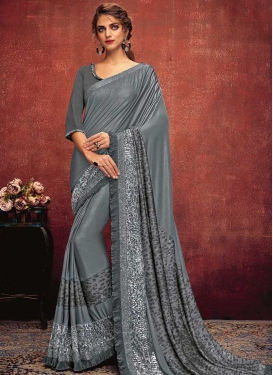 Lycra Trendy Classic Saree For Ceremonial