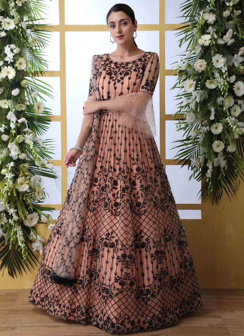 Floor Length Trendy Gown For Party
