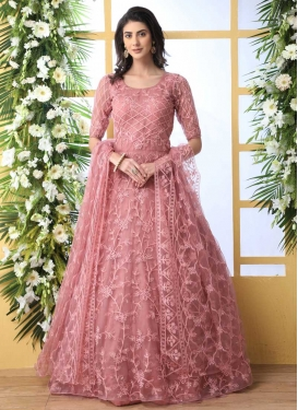 Embroidered Work Floor Length Gown
