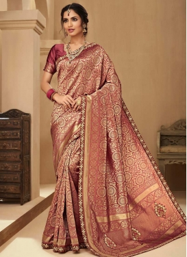 Jacquard Silk Designer Traditional Saree