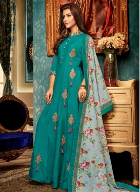 Maslin Booti Work Readymade Designer Gown