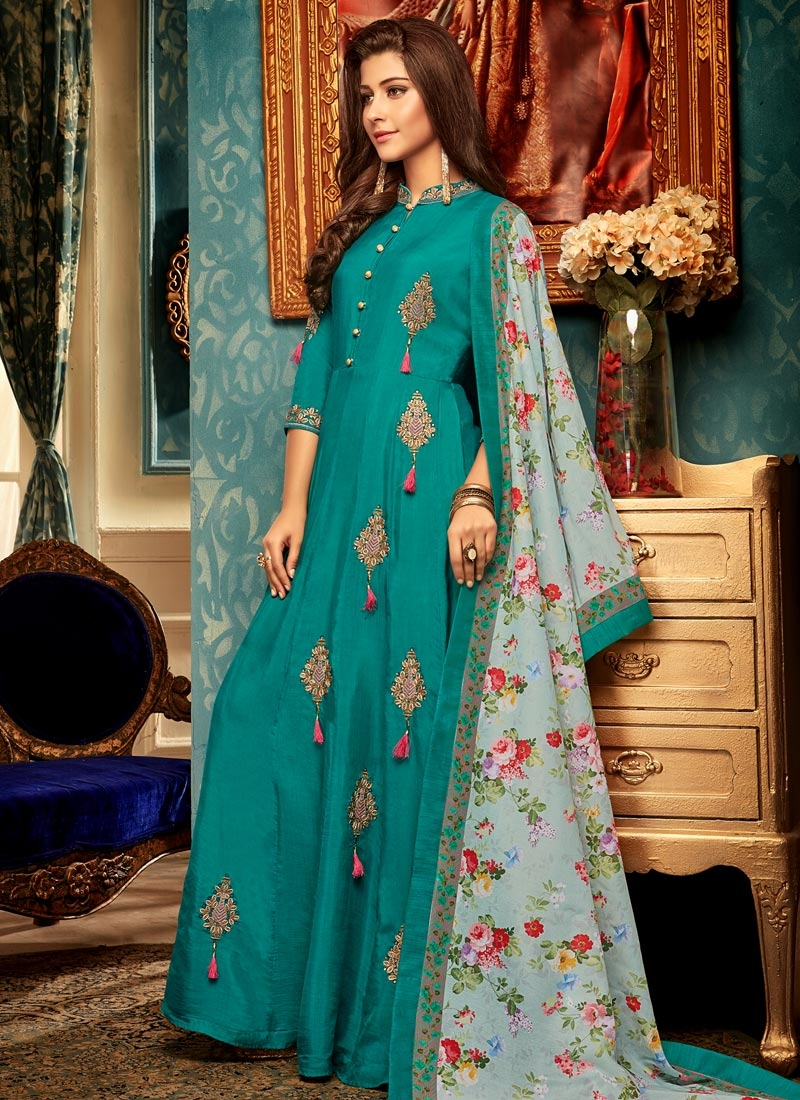 Maslin Booti Work Readymade Designer Gown