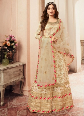 Embroidered Work Drashti Dhami Palazzo Style Pakistani Salwar Suit