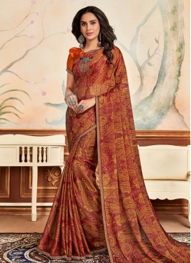 Chiffon Satin Contemporary Style Saree
