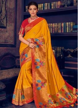 Kajal Aggarwal Traditional Designer Saree