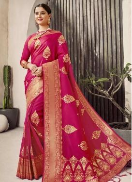 Jacquard Silk Trendy Classic Saree
