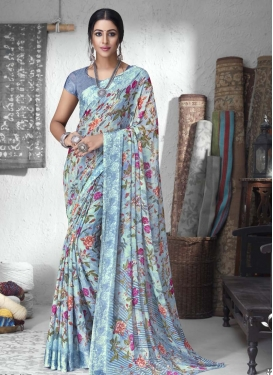 Chiffon Satin Contemporary Style Saree