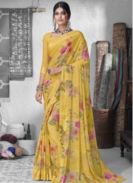 Chiffon Satin Designer Traditional Saree For Casual