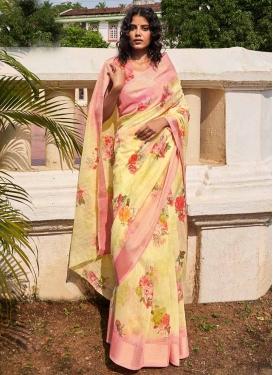 Designer Contemporary Saree For Casual