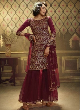 Sharara Salwar Suit For Ceremonial