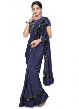 Resham Work Traditional Designer Saree For Ceremonial