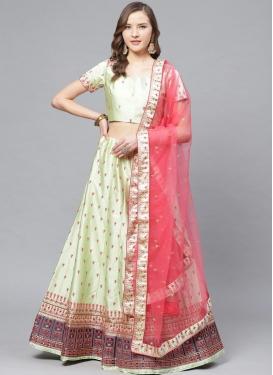 Satin Trendy Designer Lehenga Choli