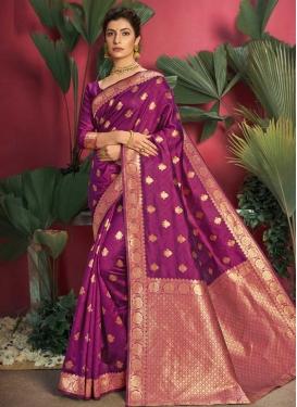 Woven Work Jacquard Silk Traditional Designer Saree