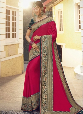 Tussar Silk Embroidered Work Traditional Designer Saree