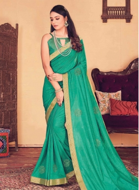 Vichitra Silk Contemporary Style Saree