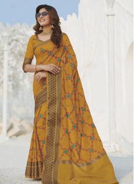Swarovski Work Art Silk Trendy Classic Saree