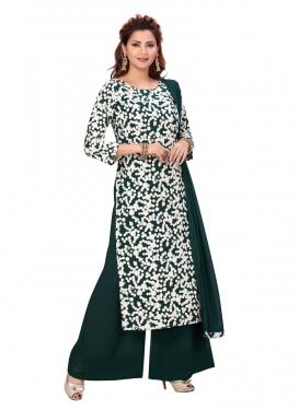 Faux Georgette Readymade Designer Suit