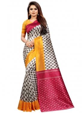 Raw Silk Traditional Designer Saree