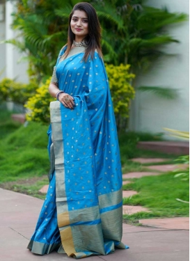 Woven Work Cotton Silk Traditional Designer Saree