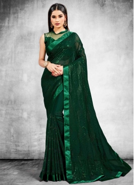 Lace Work Designer Contemporary Saree