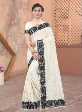 Embroidered Work Satin Designer Traditional Saree