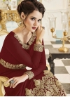Embroidered Work Anarkali Salwar Kameez - 1
