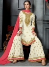 Embroidered Work Sharara Salwar Suit - 1