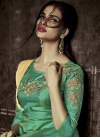 Embroidered Work Tafeta Silk Floor Length Trendy Gown - 1