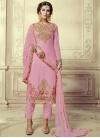 Embroidered Work Pant Style Designer Salwar Suit - 1