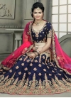 Booti Work Black and Navy Blue Trendy Lehenga Choli - 1
