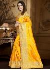 Art Silk Embroidered Work Designer Contemporary Style Saree - 1