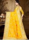 Art Silk Embroidered Work Designer Contemporary Style Saree - 2